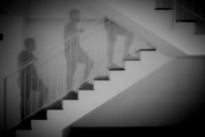 Escaleras transitadas